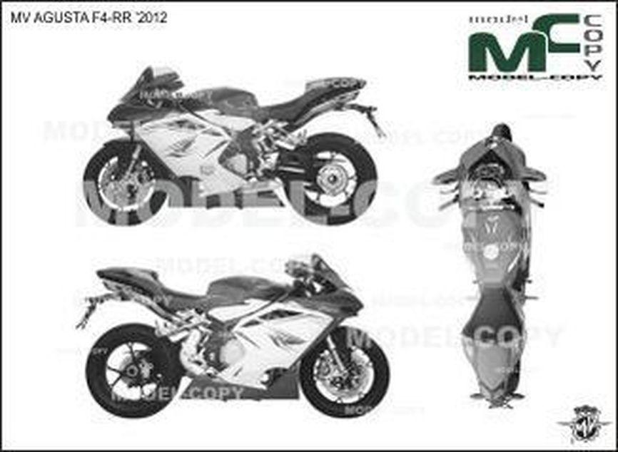 MV AGUSTA F4-RR '2012 - drawing