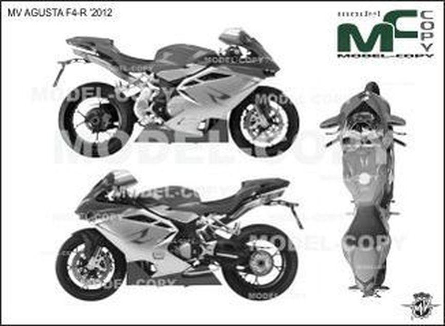 MV AGUSTA F4-R '2012 - 2D tekening