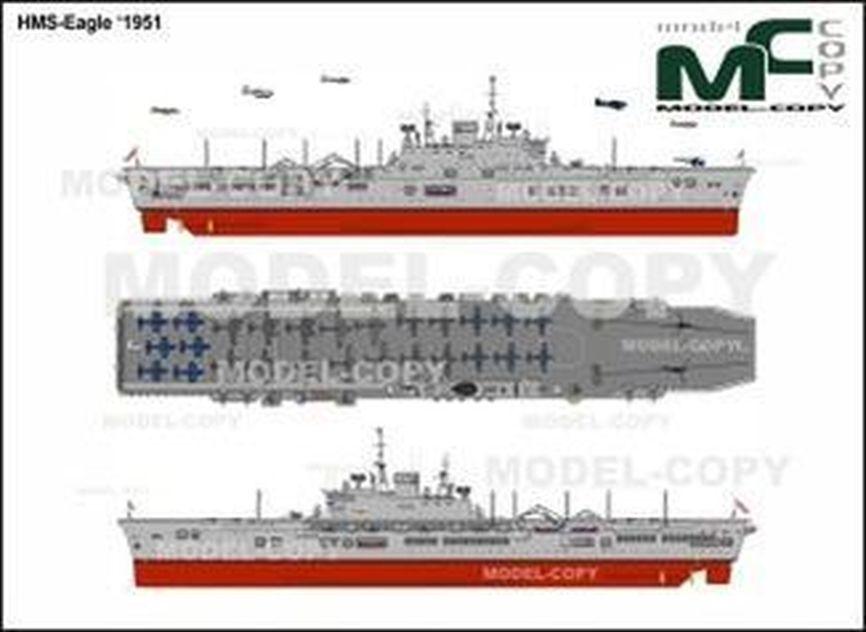 HMS-Eagle '1951 - 2D drawing (blueprints)