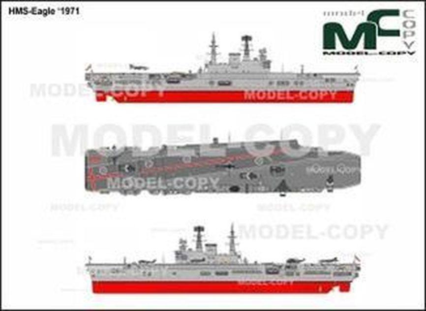 HMS-Eagle '1971 - 2D drawing (blueprints)