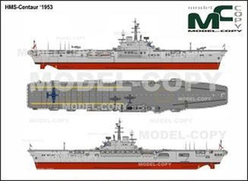 HMS-Centaur '1953 - drawing