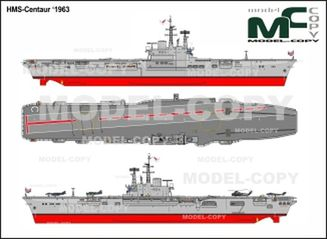 HMS-Centaur '1963 - 2D drawing (blueprints)