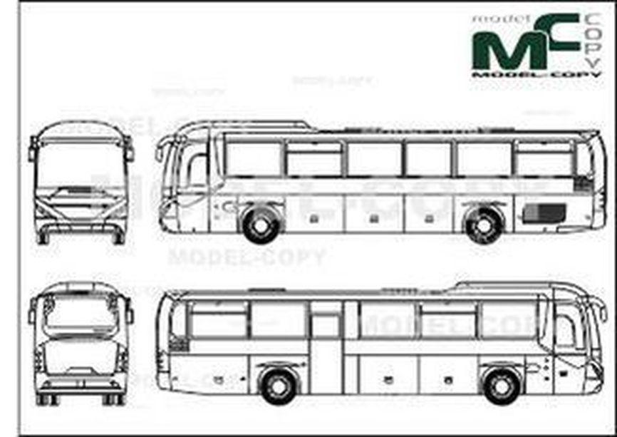 Neoplan Trendliner UE - drawing