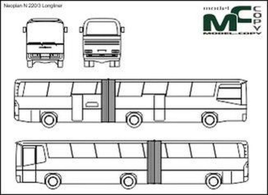 Neoplan N 220/3 Longliner - 2D drawing (blueprints)