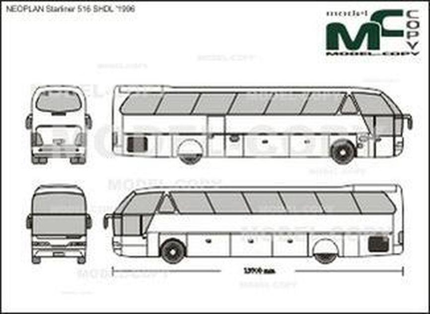 NEOPLAN Starliner 516 SHDL '1996 - 2D-чертеж