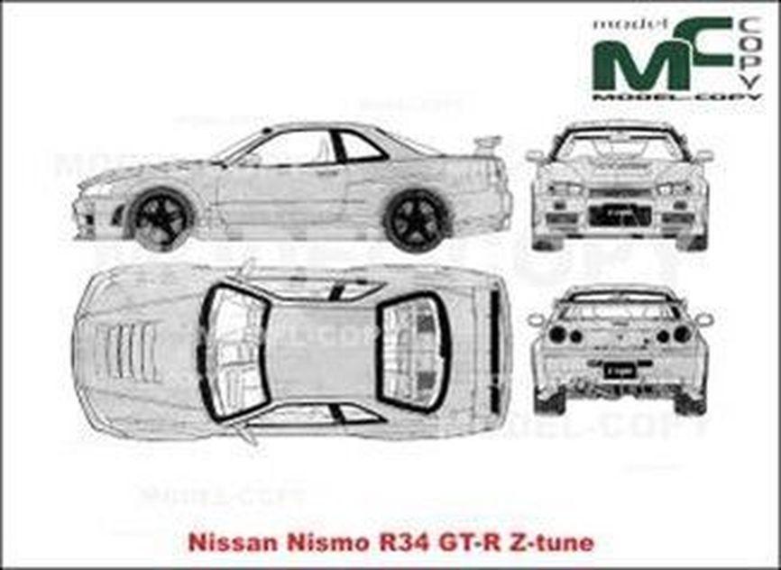 Nissan Nismo R34 GT-R Z-tune - drawing