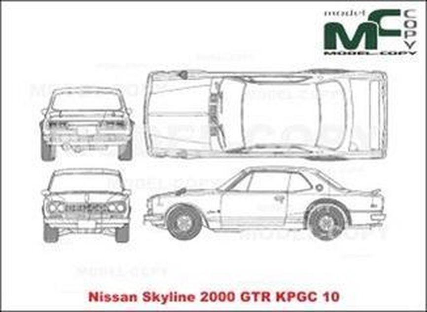 nissan skyline 2000 gtr kpgc 10 - drawing - 21199