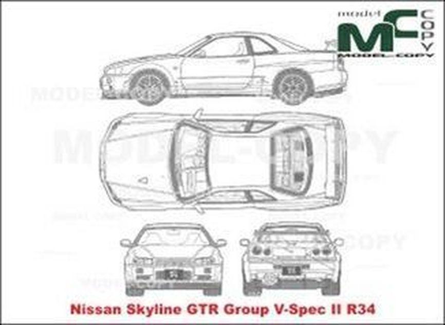 nissan skyline gtr group v-spec ii r34 - drawing - 21203