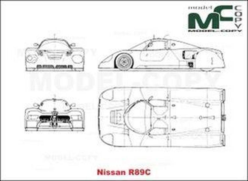 Nissan R 89 C - drawing