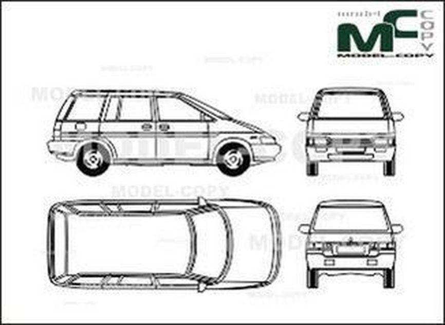 Nissan Praerie Pro - drawing