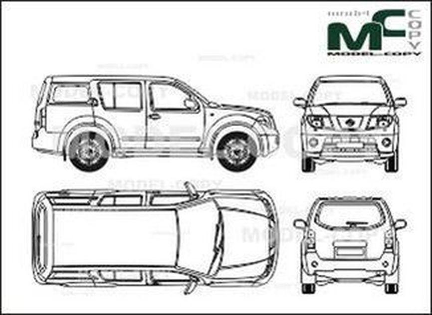 Nissan Pathfinder (2004) - Disegno 2D