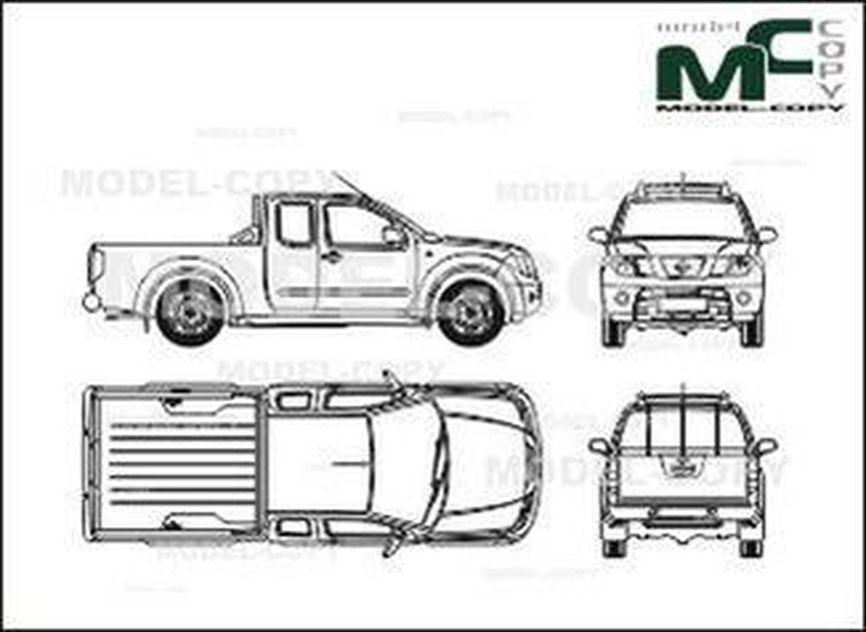 Nissan Nawara King Cab (2006) - 2D drawing (blueprints)