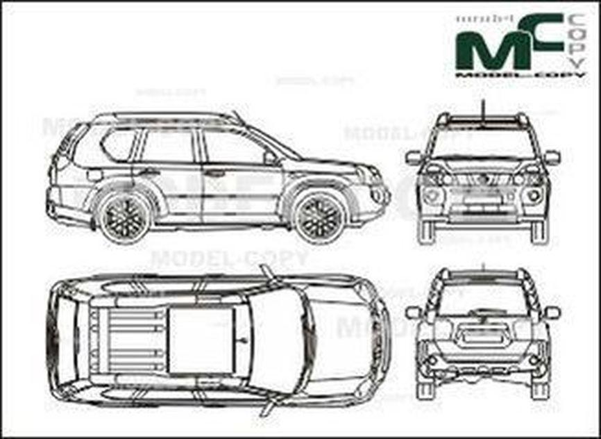 Nissan X Trail 2007 Drawing 27591 Model Copy