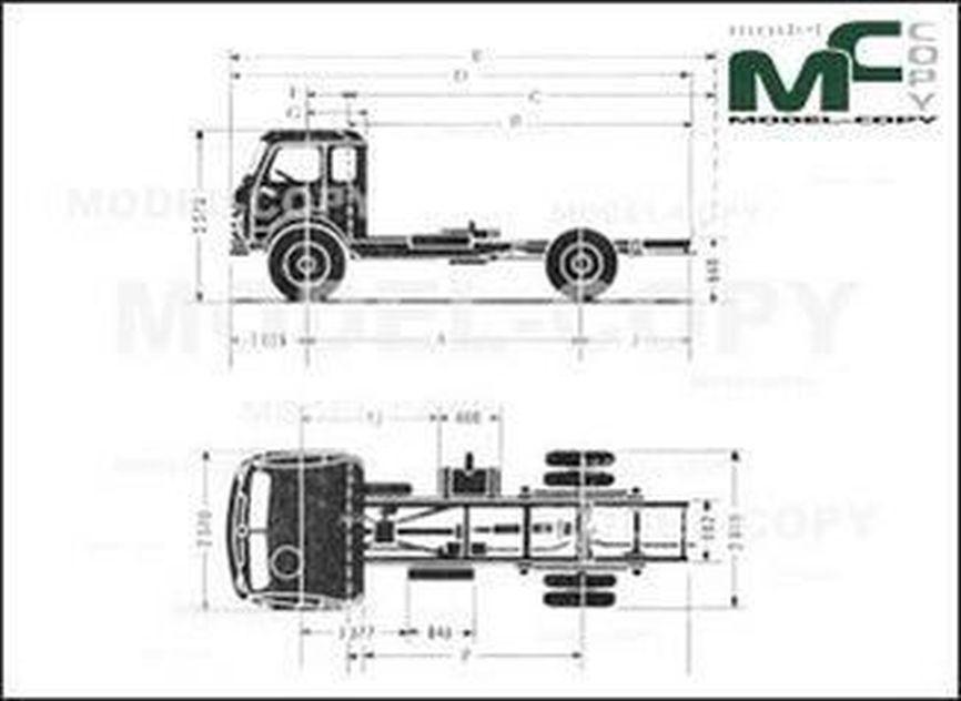 OM Tigrotto CV 75 - 2D drawing (blueprints)