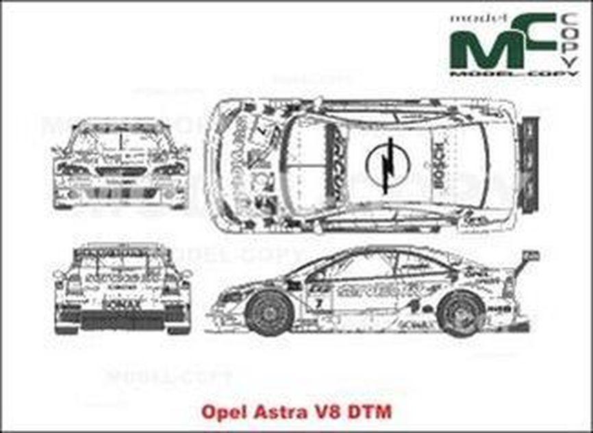 Opel Astra V8 DTM - 2D drawing (blueprints)
