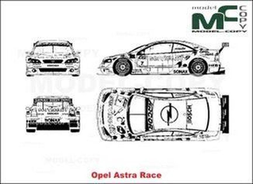 Opel Astra Race - 2D drawing (blueprints)