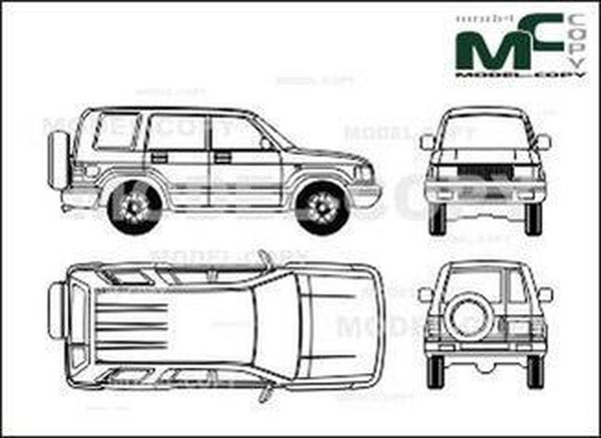Opel Monterey LTD (1996) - 2D drawing (blueprints)