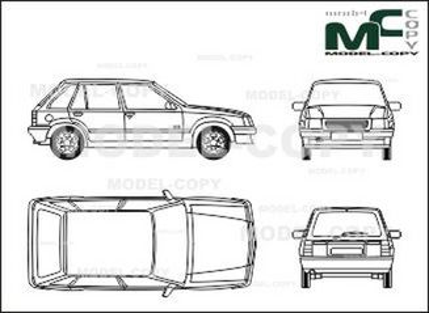 opel corsa a  4-doors  hatchback  l  - dibujo