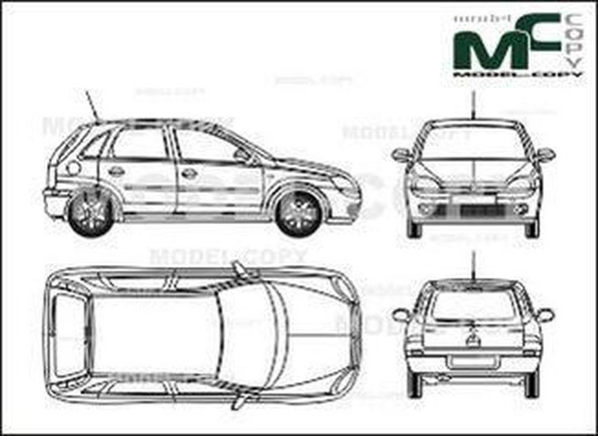 opel corsa c 5-doors - desenho - 27658