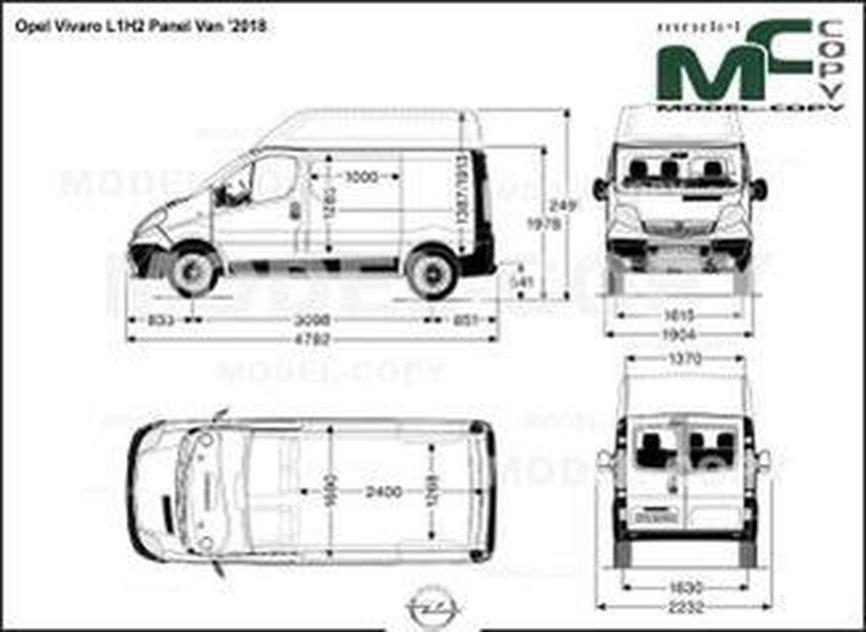 Opel Vivaro L1H2 Panel Van '2018 - drawing