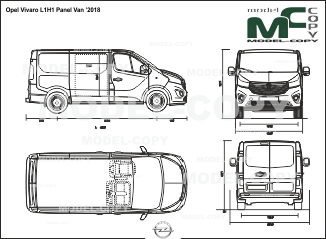 Opel Vivaro L1H1 Panel Van '2018 - drawing