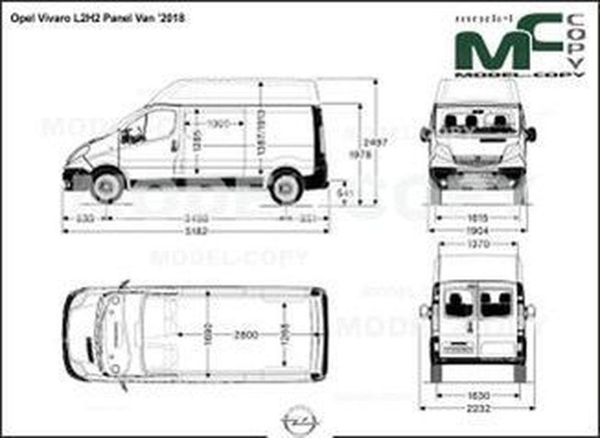 Opel Vivaro L2H2 Panel Van '2018 - drawing