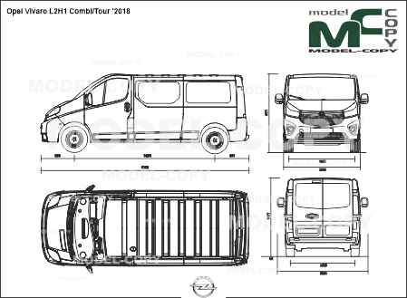Opel Vivaro L2H1 Combi/Tour '2018 - drawing