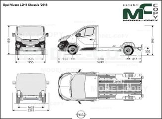 Opel Vivaro L2H1 Chassis '2018 - drawing