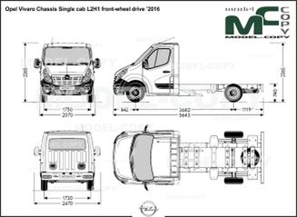 Opel Vivaro Chassis Single cab L2H1 front-wheel drive '2016 - drawing