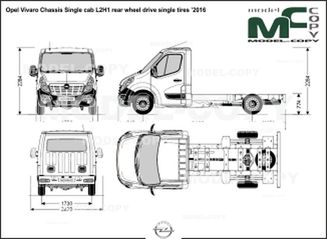 Opel Vivaro Chassis Single cab L2H1 rear wheel drive single tires '2016 - drawing