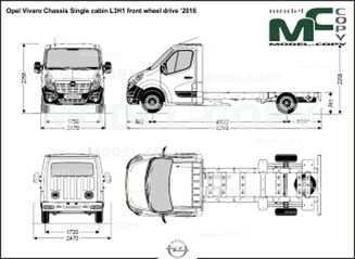 Opel Vivaro Chassis Single cabin L3H1 front wheel drive '2016 - drawing
