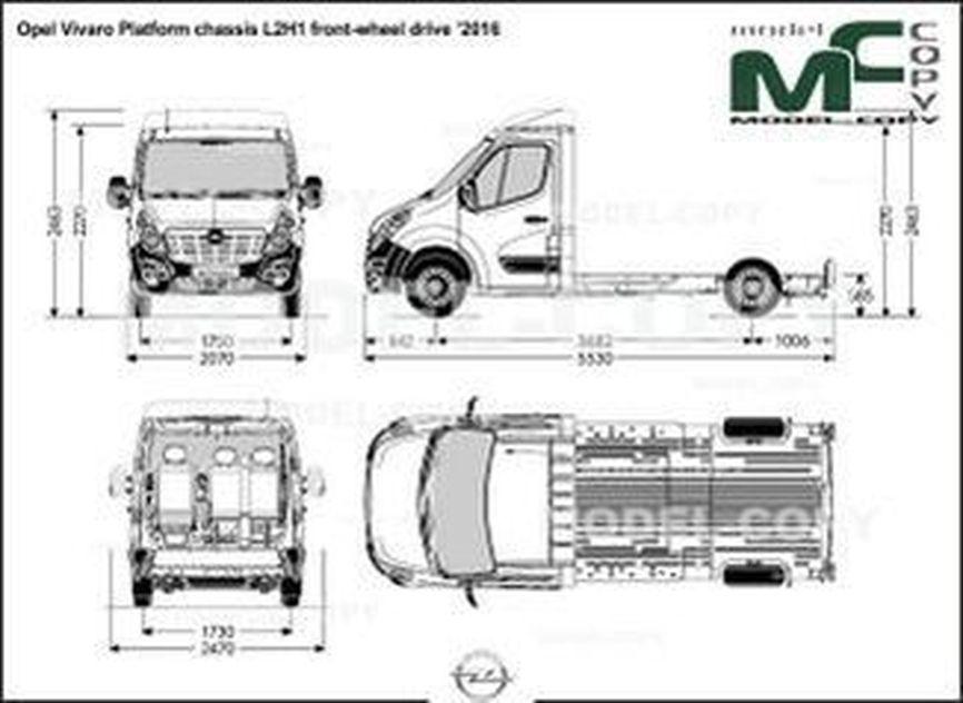 Opel Vivaro Platform chassis L2H1 front-wheel drive '2016 - drawing
