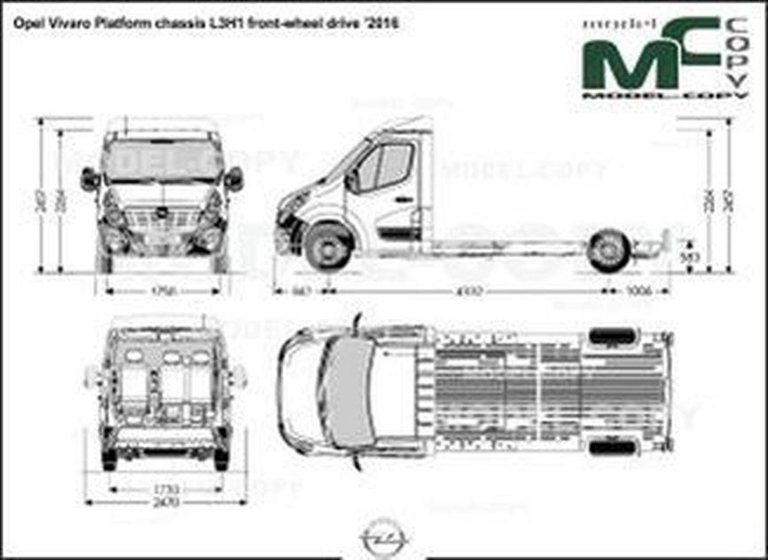 Opel Vivaro Platform chassis L3H1 front-wheel drive '2016 - drawing
