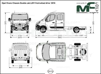 Opel Vivaro Chassis Double cab L2H1 front-wheel drive '2016 - drawing