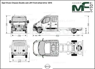 Opel Vivaro Chassis Double cab L3H1 front-wheel drive '2016 - drawing
