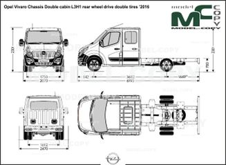 Opel Vivaro Chassis Double cabin L3H1 rear wheel drive double tires '2016 - drawing