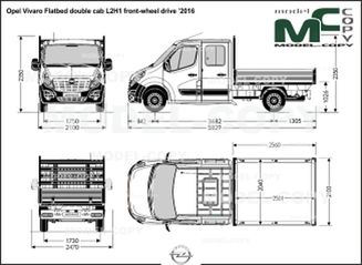 Opel Vivaro Flatbed double cab L2H1 front-wheel drive '2016 - drawing