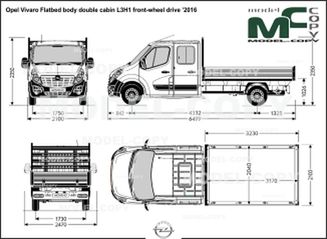 Opel Vivaro Flatbed body double cabin L3H1 front-wheel drive '2016 - drawing