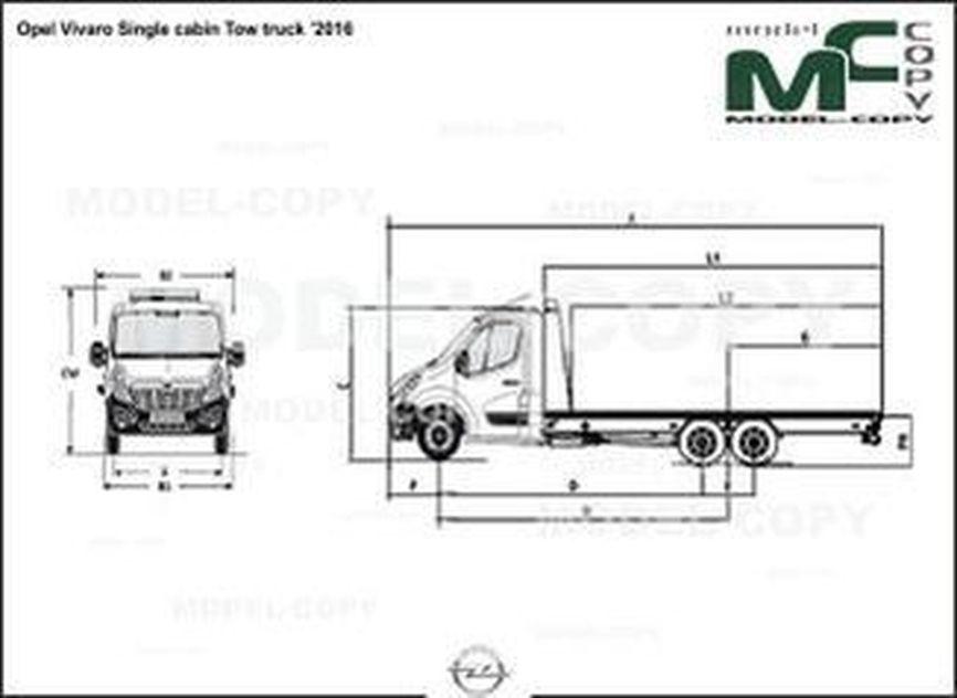 Opel Vivaro Single cabin Tow truck '2016 - drawing