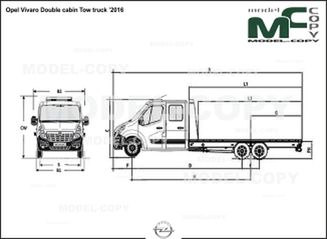 Opel Vivaro Double cabin Tow truck '2016 - drawing