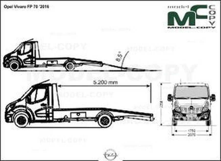 Opel Vivaro FP 70 '2016 - drawing