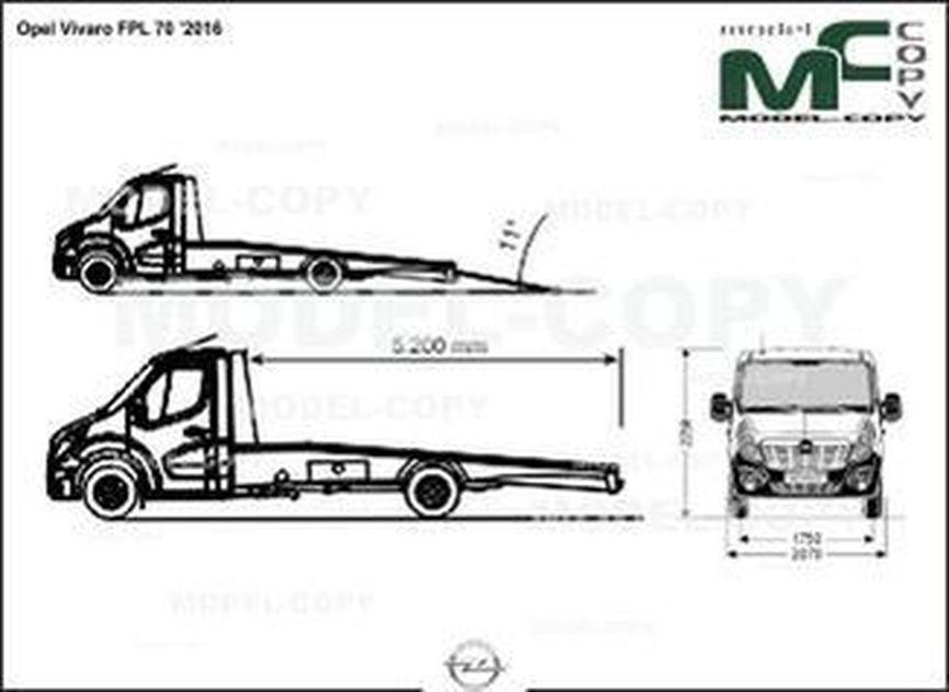 Opel Vivaro FPL 70 '2016 - drawing