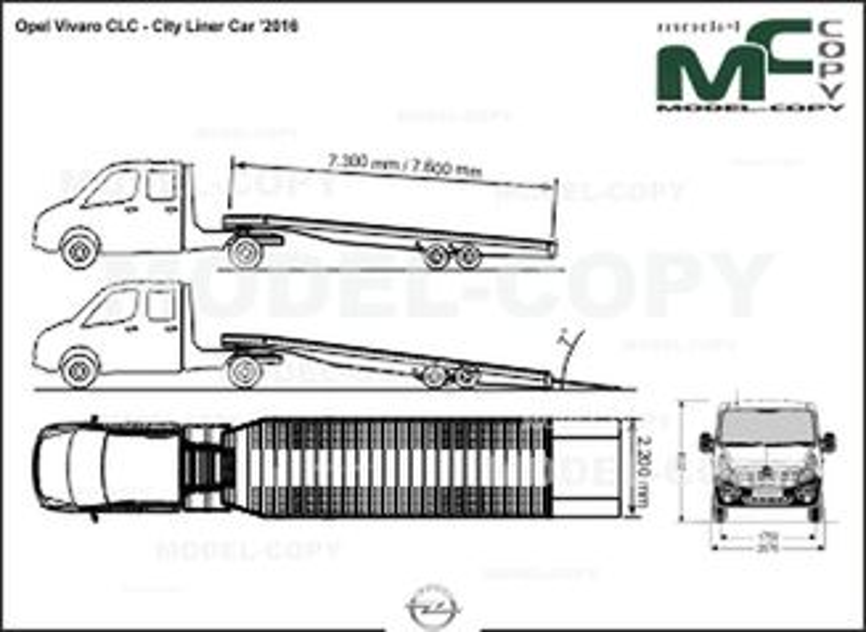 Opel Vivaro CLC - City Liner Car '2016 - drawing