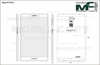 Oppo R7 Plus - drawing