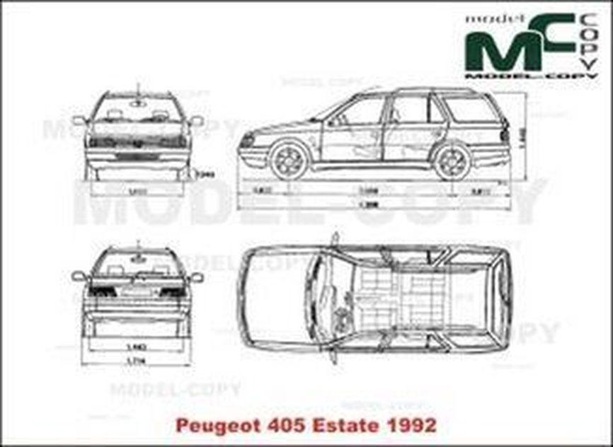 Peugeot 405 Estate (1992) - 2D kresba