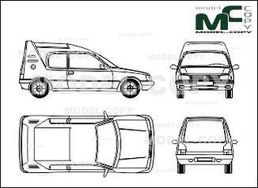 Peugeot 205 Multi - drawing