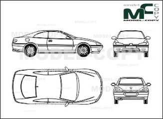 Peugeot 406 Coupe - Drawing - 27802