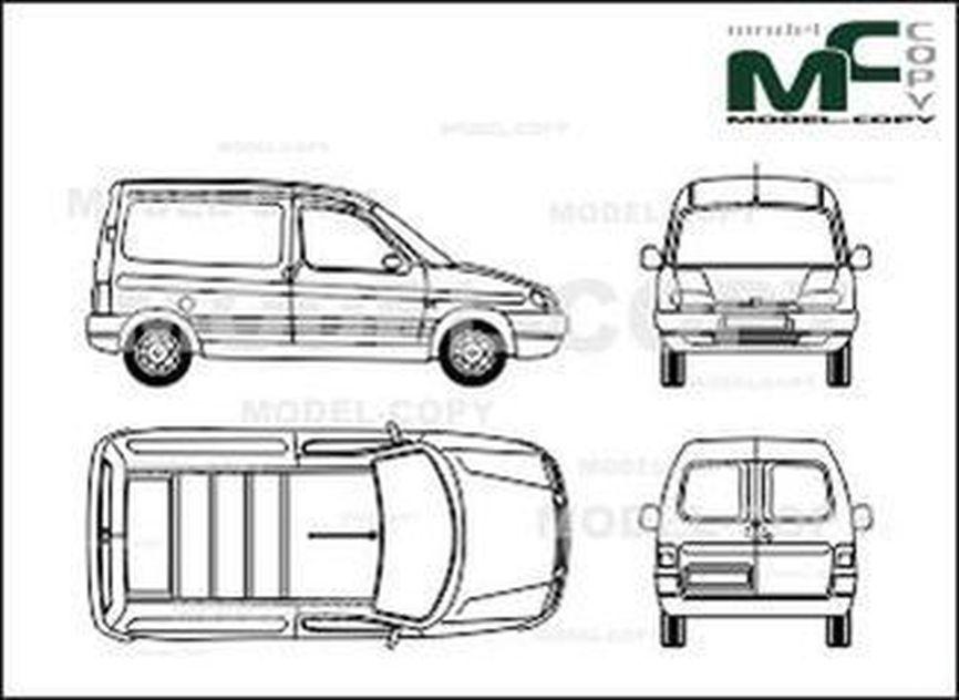 Peugeot Partner box car - drawing