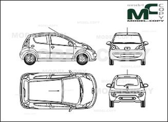 peugeot 107  5-doors  2005  - drawing - 27929