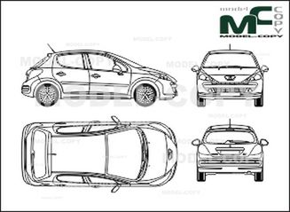 list of synonyms and antonyms of the word  peugeot 207 drawing